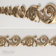 Decorative carved molding | Bg_018 3d model