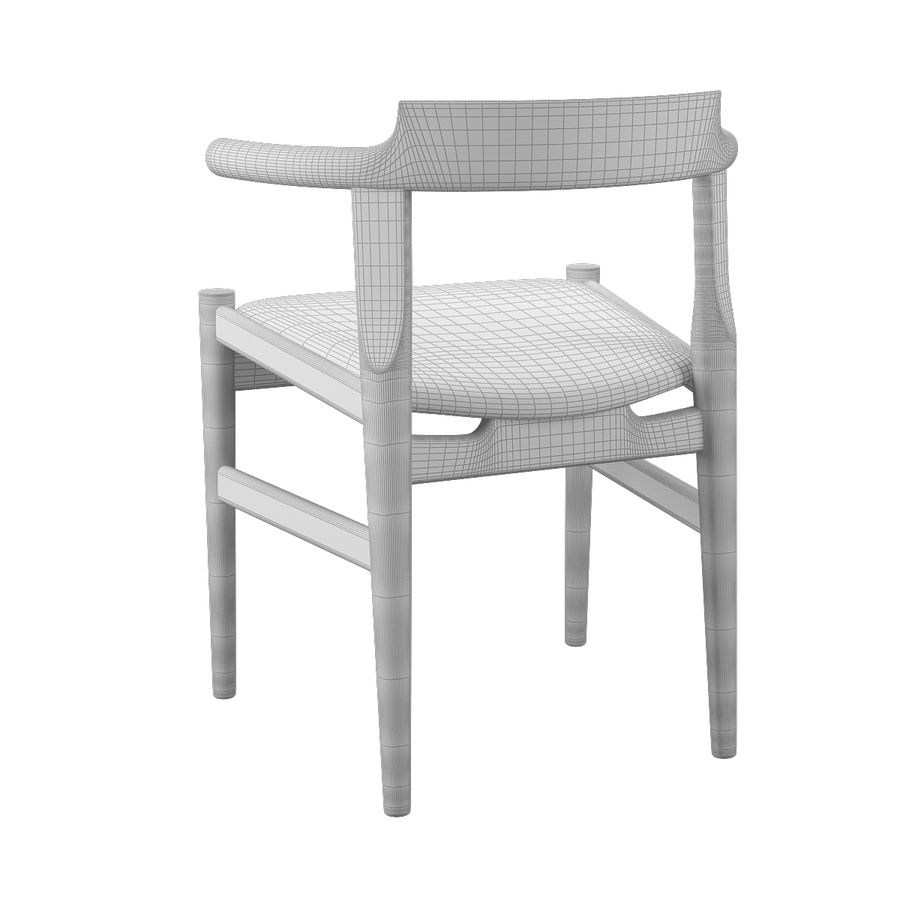 Krzesło PP58 - Hans J. Wegner royalty-free 3d model - Preview no. 10
