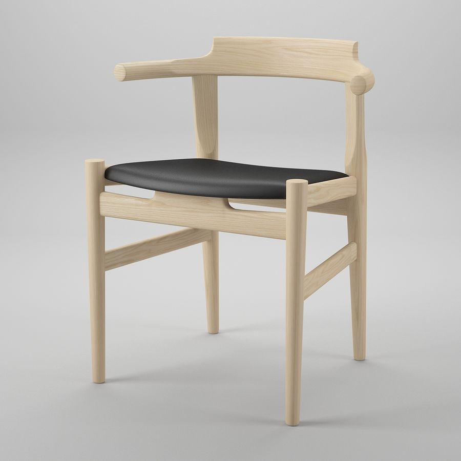 Krzesło PP58 - Hans J. Wegner royalty-free 3d model - Preview no. 2