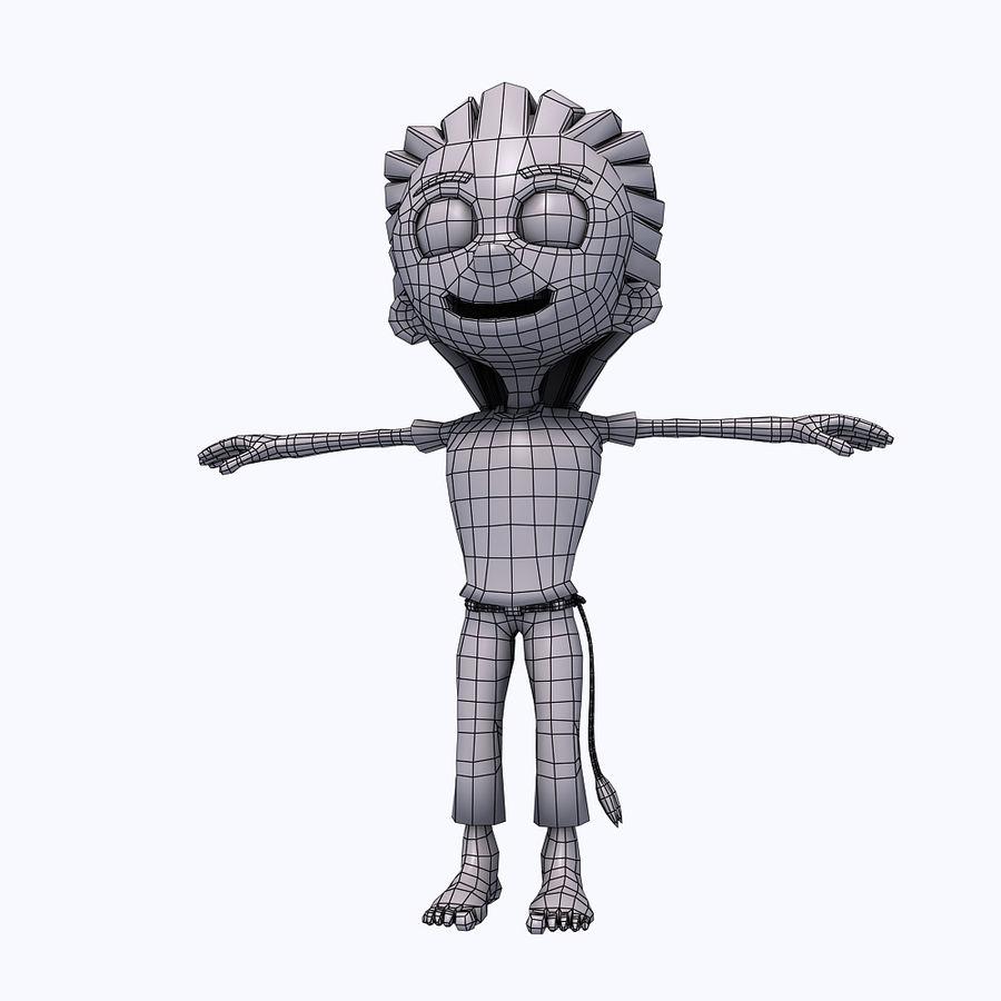 소년 캐릭터 royalty-free 3d model - Preview no. 16