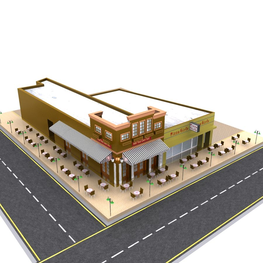 Fast Food Restaurant 3d Model 39 Obj Max Fbx 3ds Free3d Series Circuit Animated Royalty Free Preview No 8