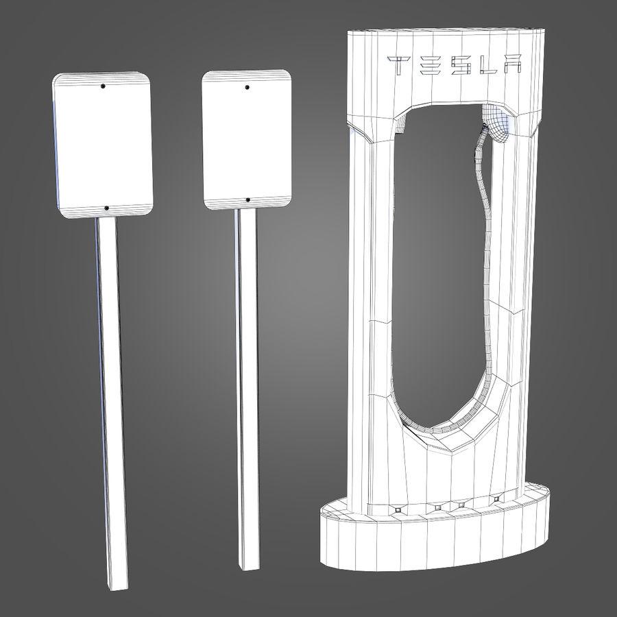 特斯拉增压器 royalty-free 3d model - Preview no. 8