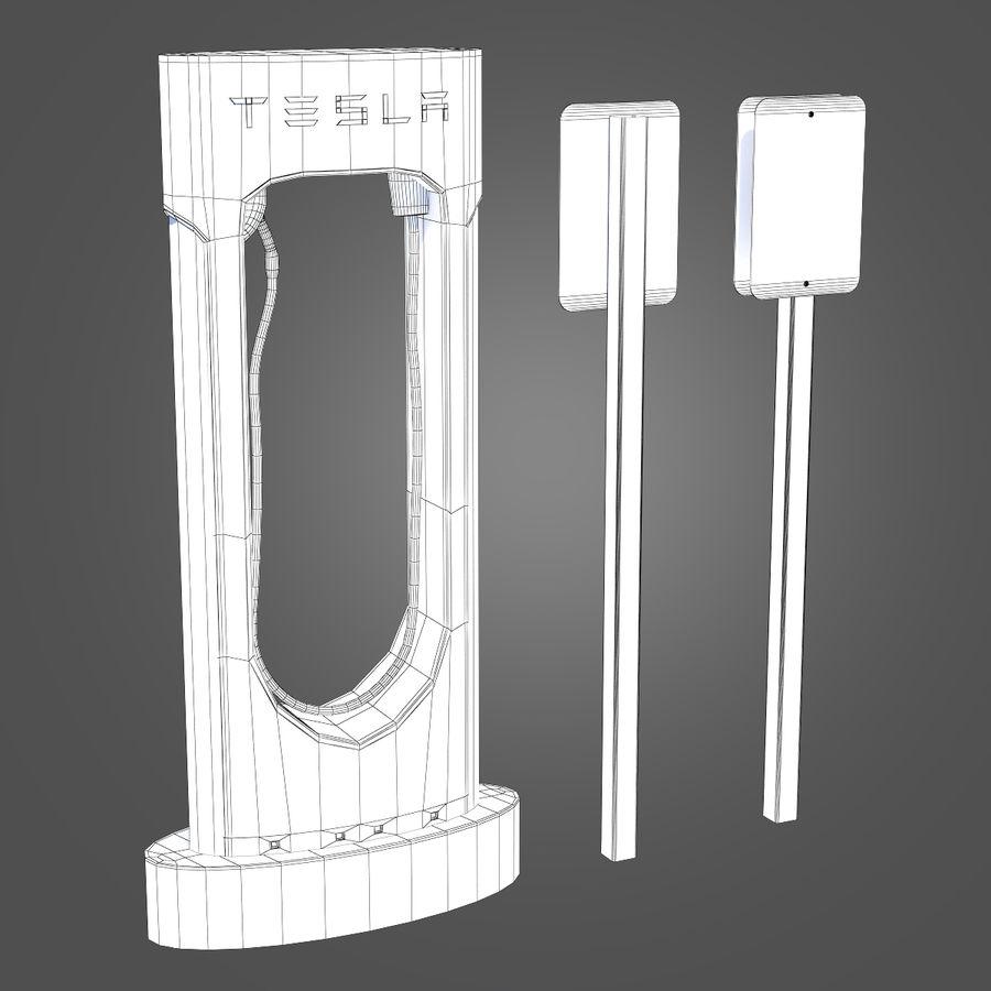 特斯拉增压器 royalty-free 3d model - Preview no. 9
