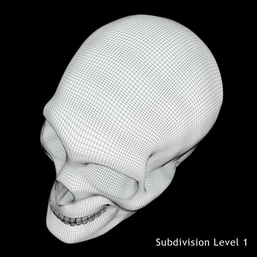 Crâne humain royalty-free 3d model - Preview no. 17