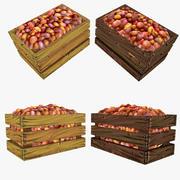 Caisse de pommes de terre basse en poly 3d model