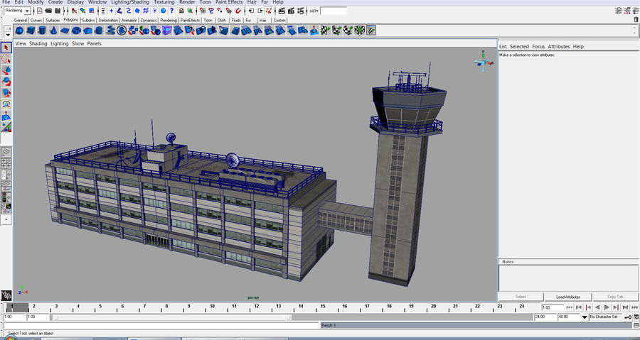Airport Tower royalty-free 3d model - Preview no. 20