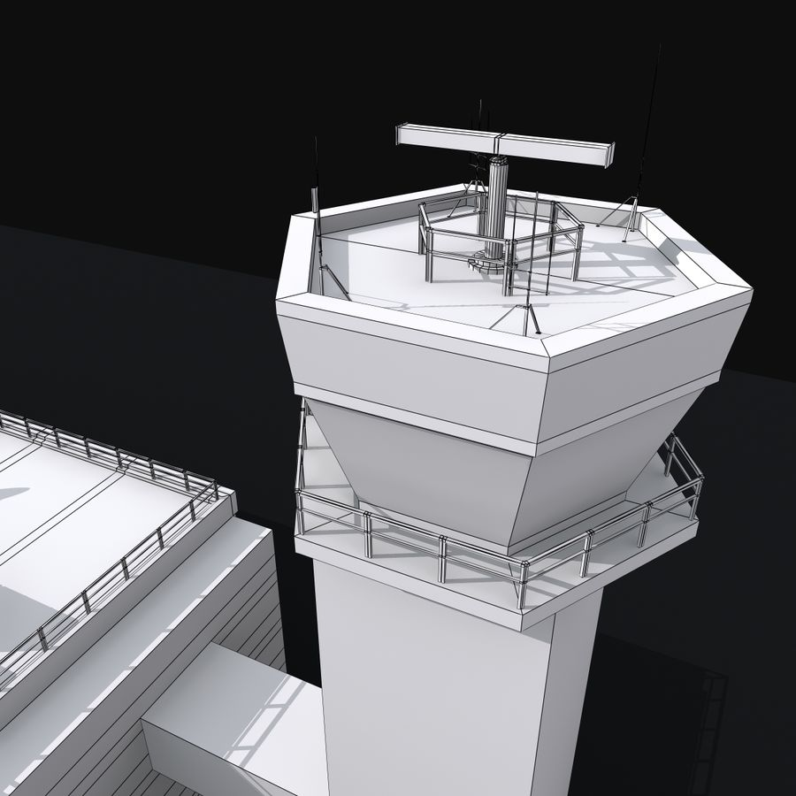 Airport Tower royalty-free 3d model - Preview no. 15