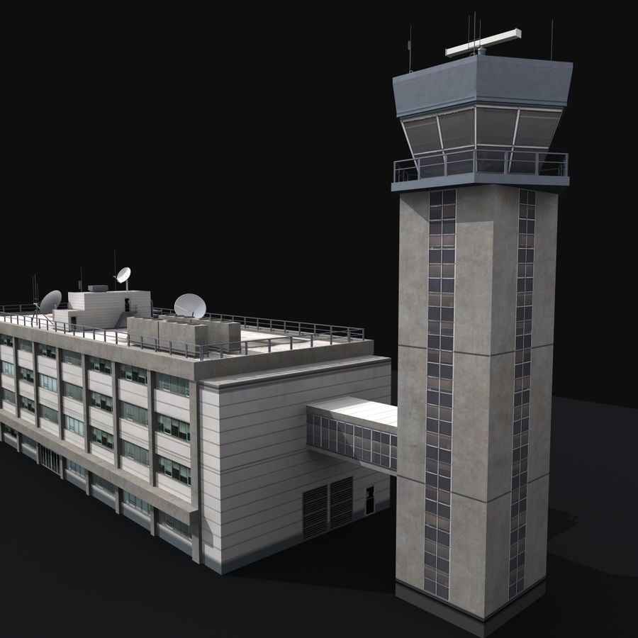 Airport Tower royalty-free 3d model - Preview no. 5