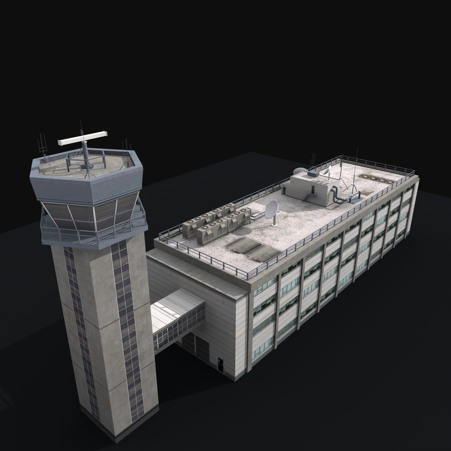 Airport Tower royalty-free 3d model - Preview no. 9