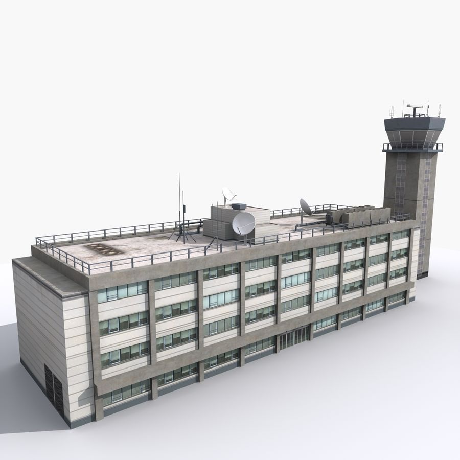 Airport Tower royalty-free 3d model - Preview no. 3
