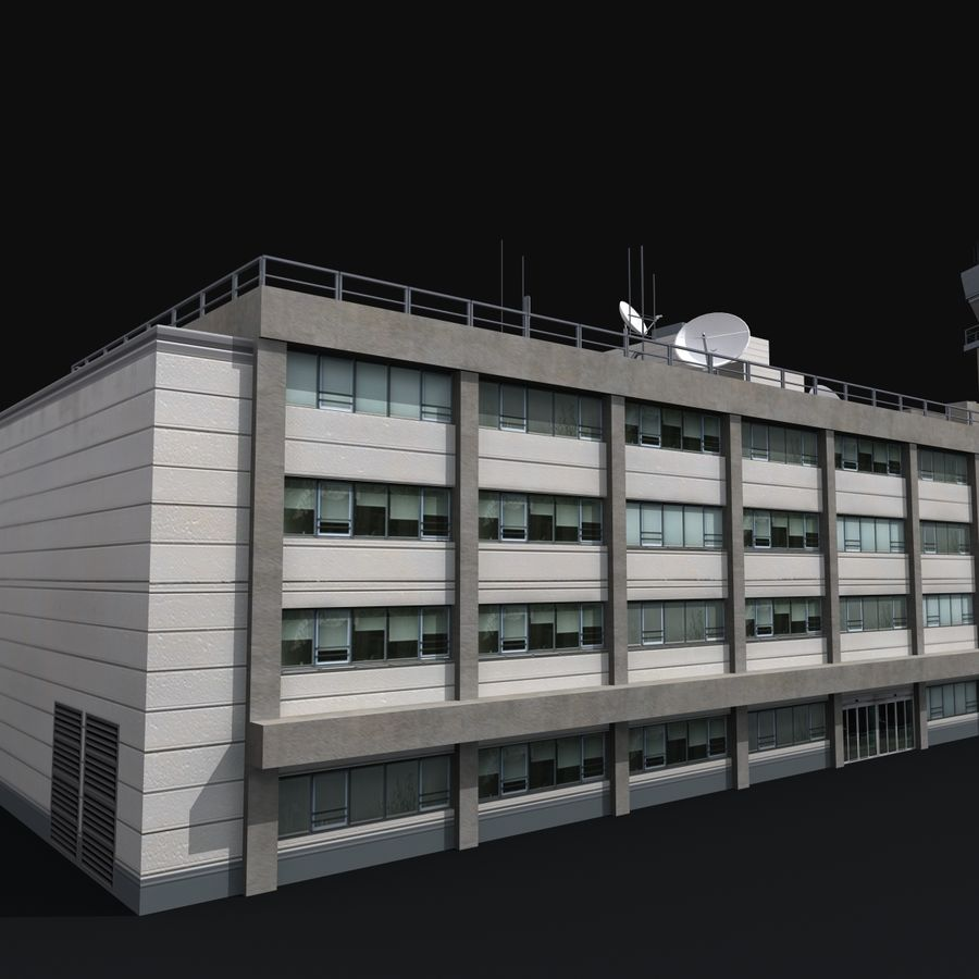 Airport Tower royalty-free 3d model - Preview no. 6
