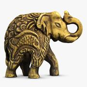 Elephant Sculpture Small 3d model