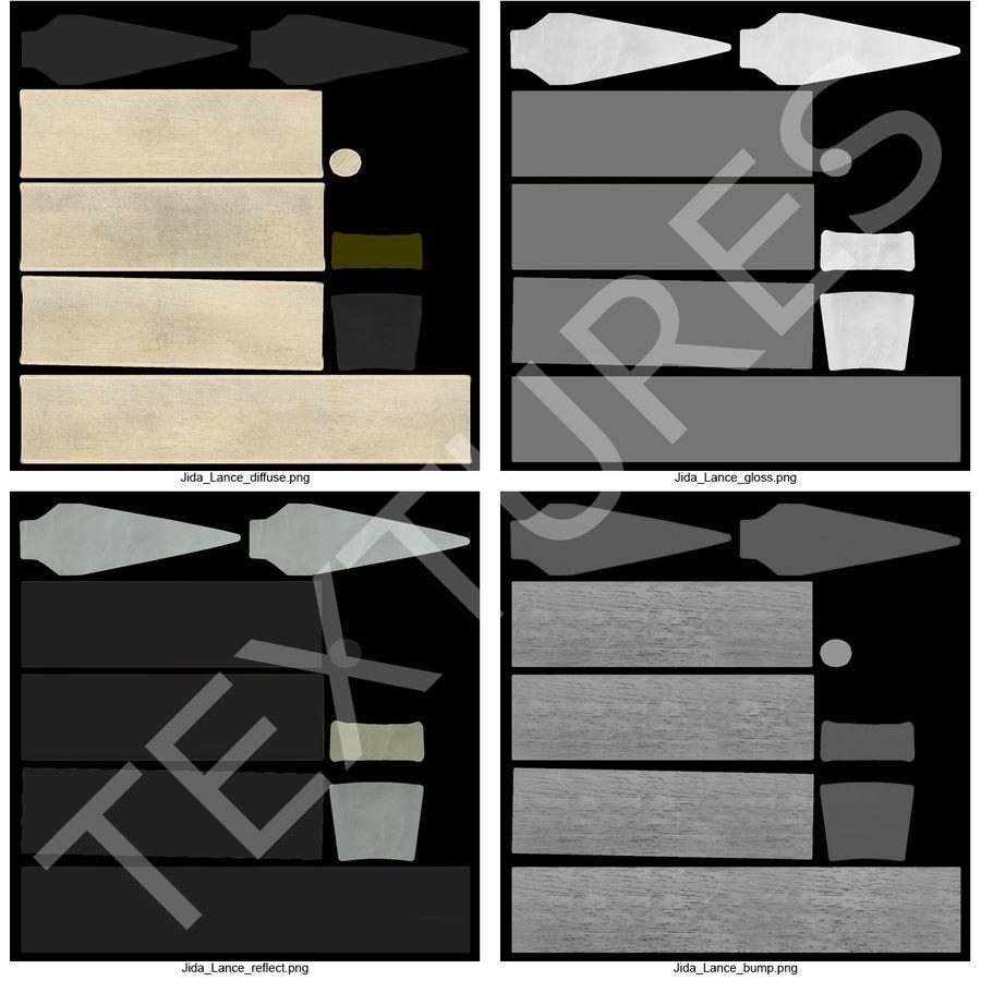 Lança Jida Lance royalty-free 3d model - Preview no. 15