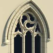 Small Arched Gothic Window - Type I 3d model