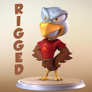 Maya Eagle Cartoon Character 3d model