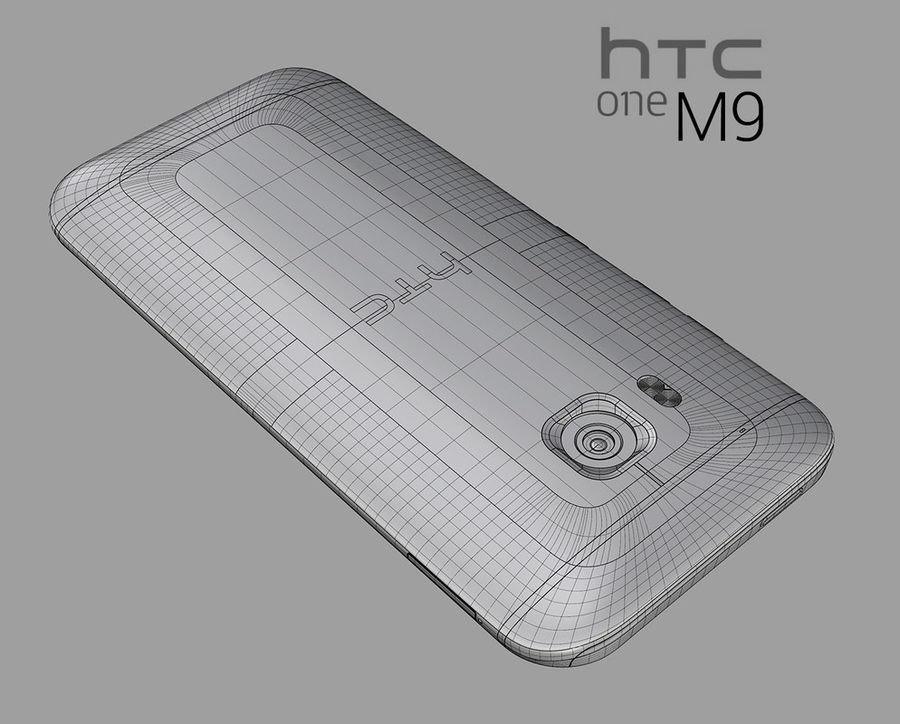 HTC One M9 royalty-free 3d model - Preview no. 4