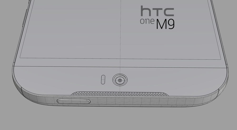 HTC One M9 royalty-free 3d model - Preview no. 8