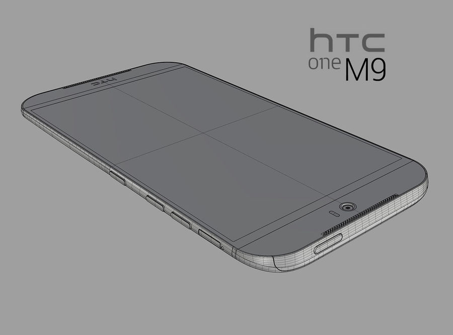 HTC One M9 royalty-free 3d model - Preview no. 12
