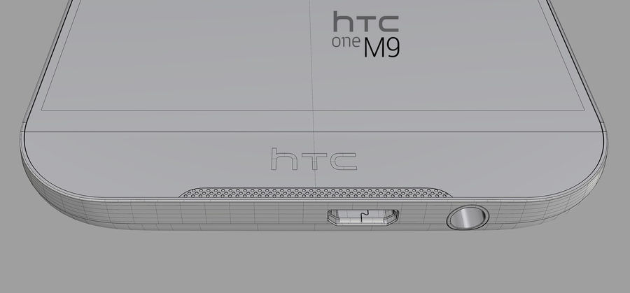 HTC One M9 royalty-free 3d model - Preview no. 14