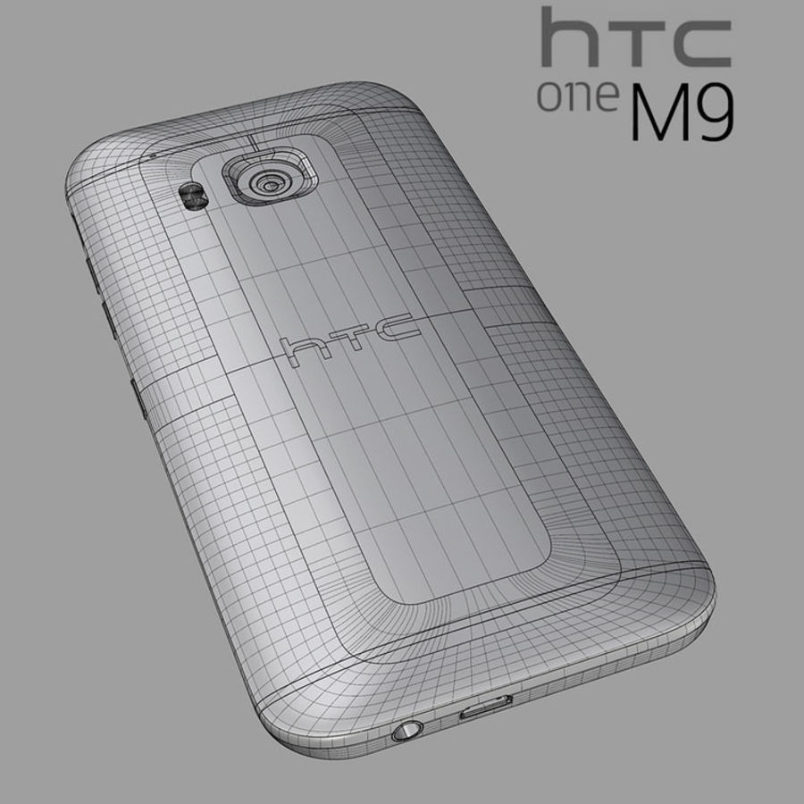 HTC One M9 royalty-free 3d model - Preview no. 2