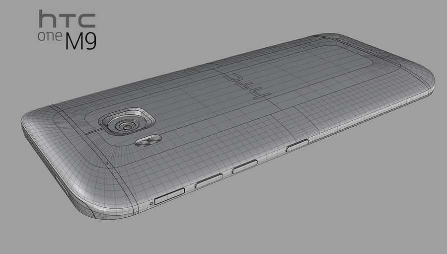 HTC One M9 royalty-free 3d model - Preview no. 6