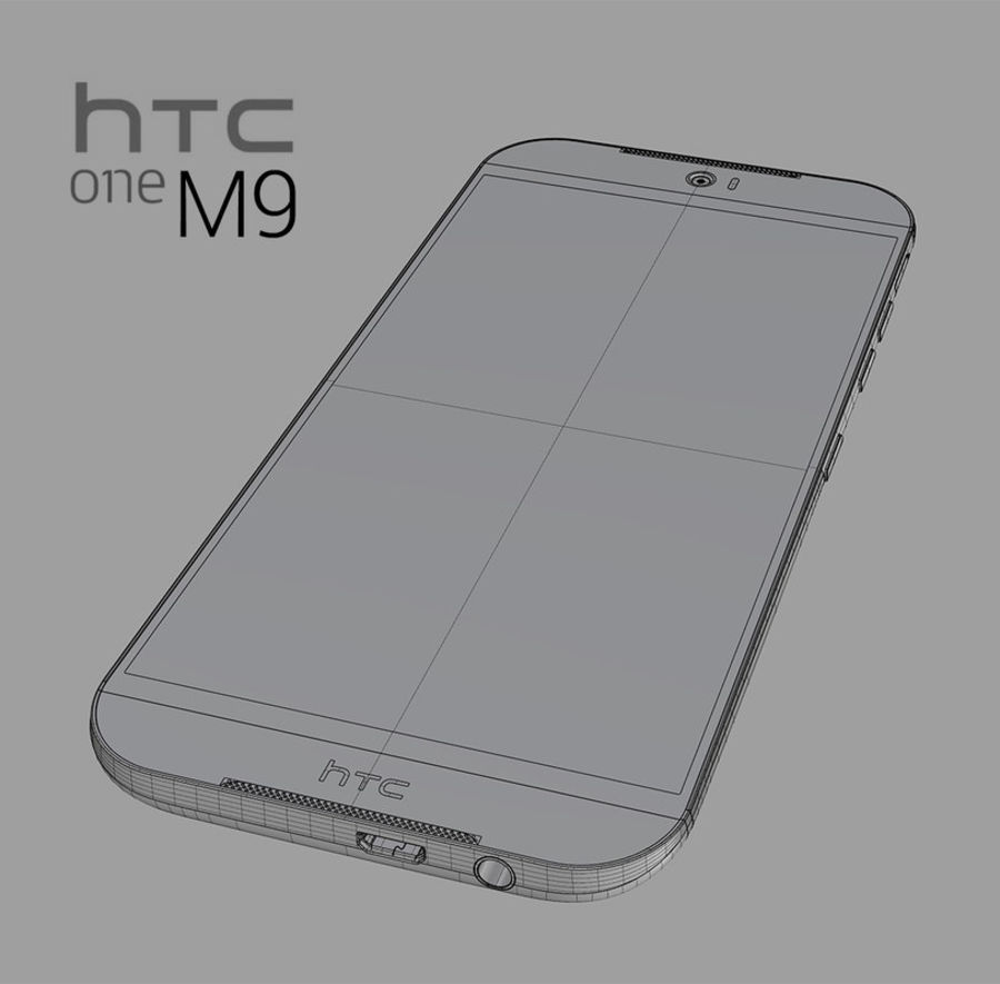 HTC One M9 royalty-free 3d model - Preview no. 10