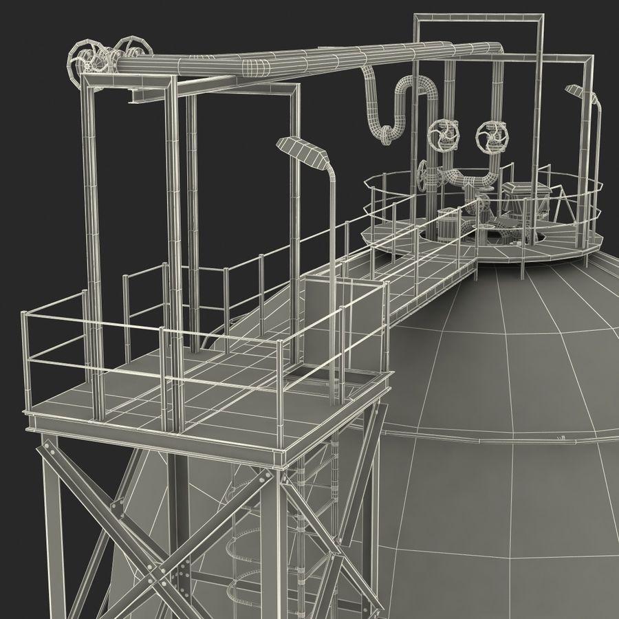 石油貯蔵タンク3Dモデル royalty-free 3d model - Preview no. 46