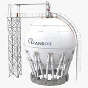 Oil Storage Tank 3D Model 3d model