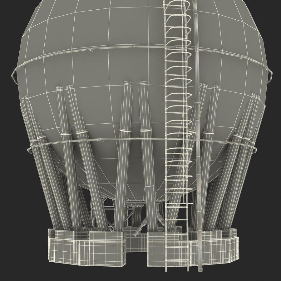 石油貯蔵タンク3Dモデル royalty-free 3d model - Preview no. 44