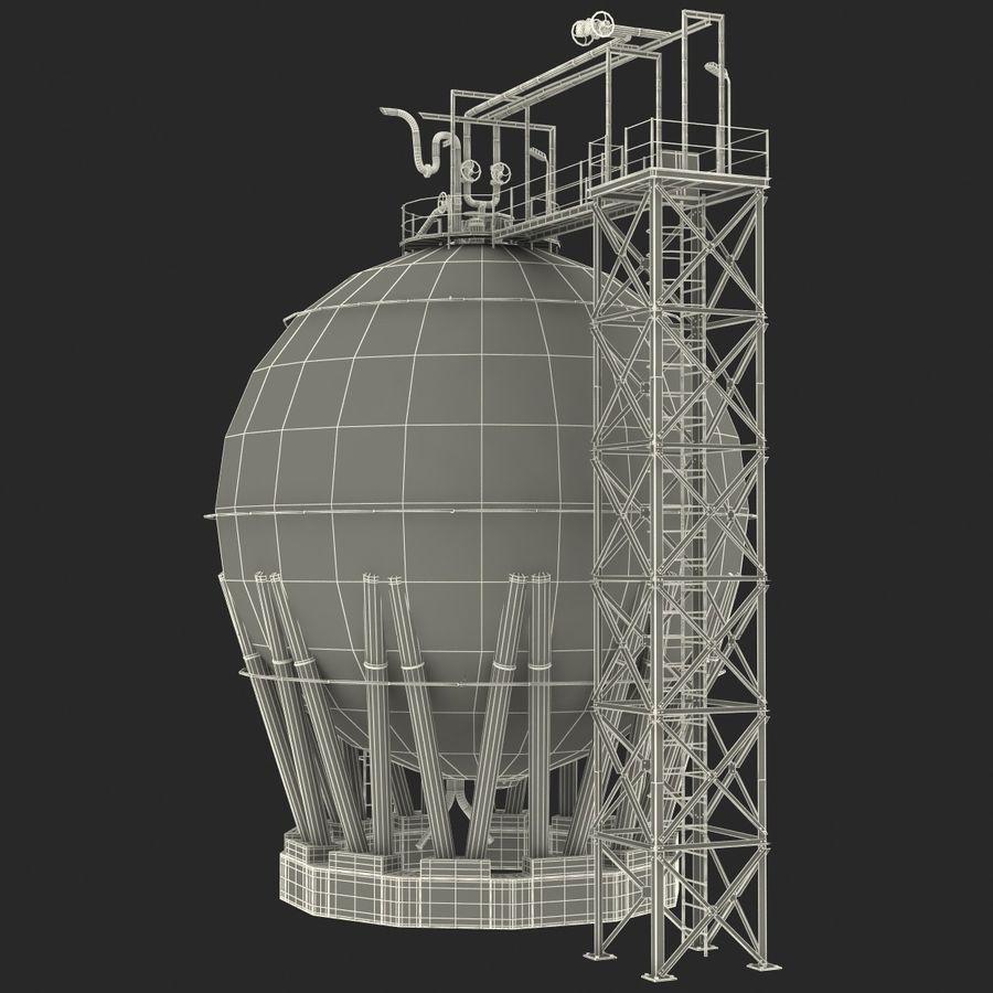 石油貯蔵タンク3Dモデル royalty-free 3d model - Preview no. 41