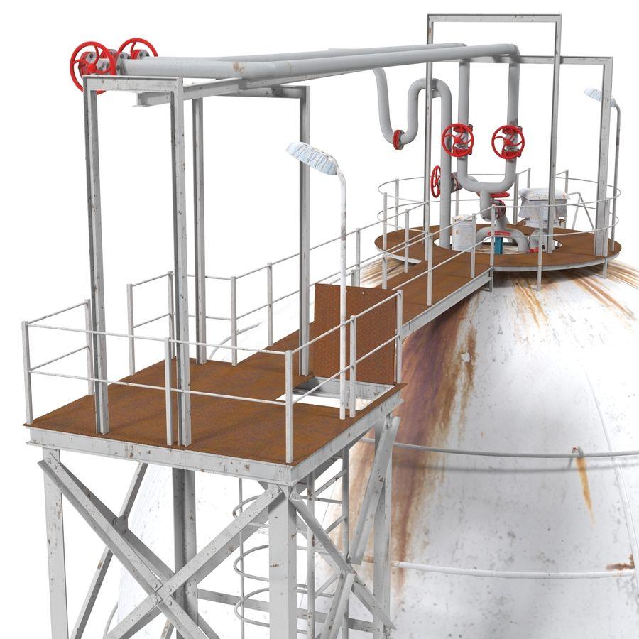 石油貯蔵タンク3Dモデル royalty-free 3d model - Preview no. 16