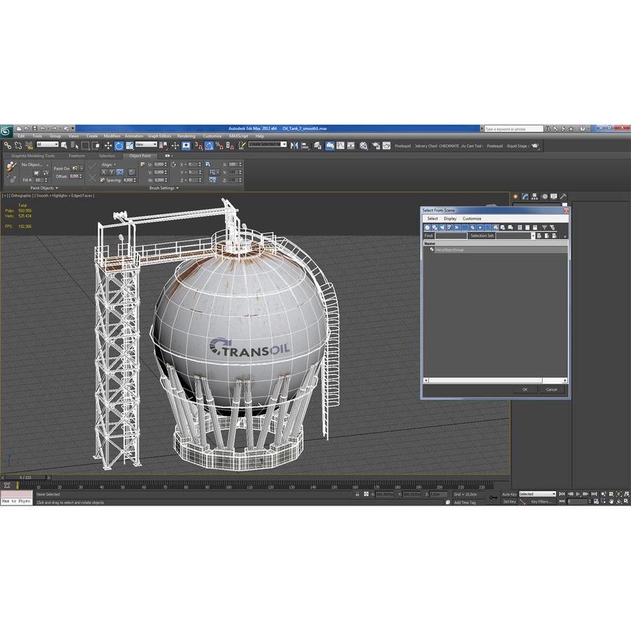 石油貯蔵タンク3Dモデル royalty-free 3d model - Preview no. 36