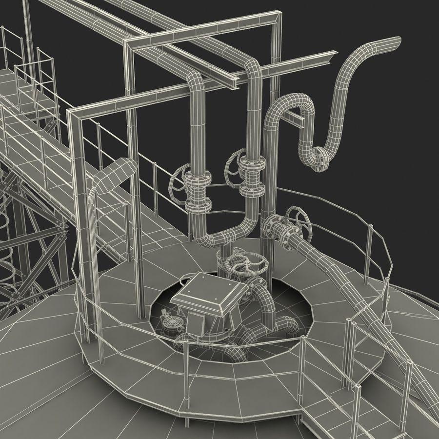 石油貯蔵タンク3Dモデル royalty-free 3d model - Preview no. 45