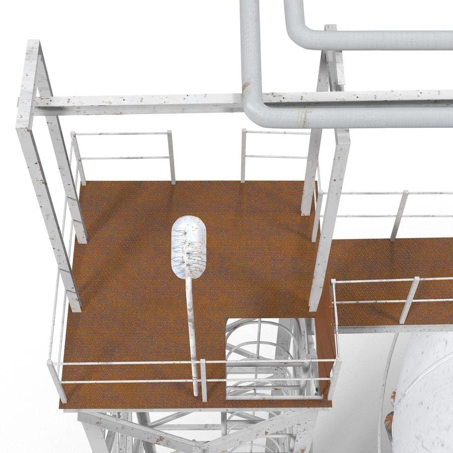 石油貯蔵タンク3Dモデル royalty-free 3d model - Preview no. 21