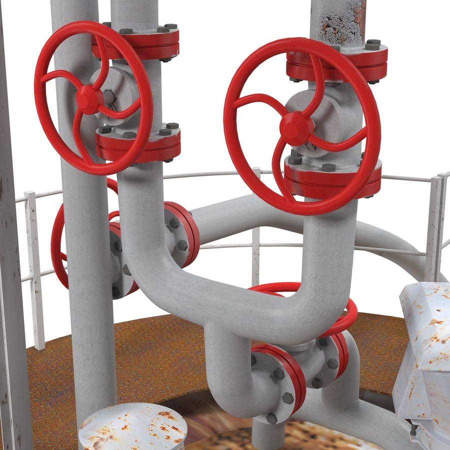 石油貯蔵タンク3Dモデル royalty-free 3d model - Preview no. 18
