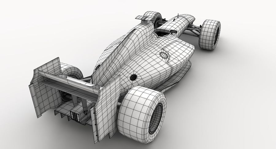 Generic F1 car royalty-free 3d model - Preview no. 23