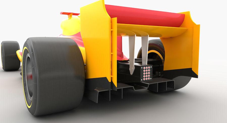 Generic F1 car royalty-free 3d model - Preview no. 13