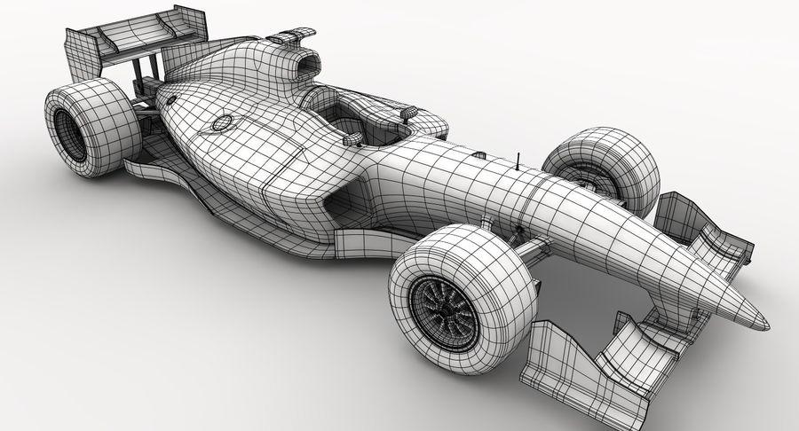 Generic F1 car royalty-free 3d model - Preview no. 24