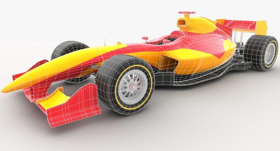Generic F1 car royalty-free 3d model - Preview no. 15