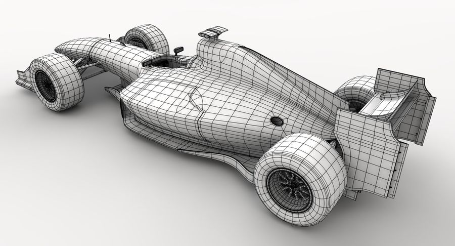 Generic F1 car royalty-free 3d model - Preview no. 22