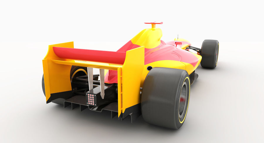 Generic F1 car royalty-free 3d model - Preview no. 5
