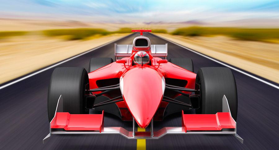 Generic F1 car royalty-free 3d model - Preview no. 1