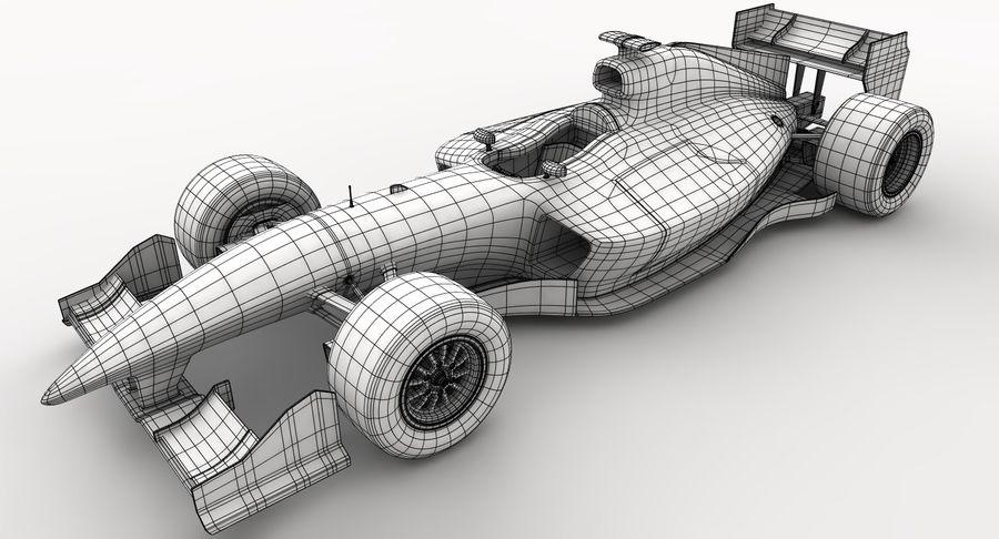 Generic F1 car royalty-free 3d model - Preview no. 21