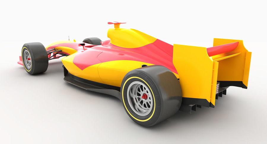 Generic F1 car royalty-free 3d model - Preview no. 4