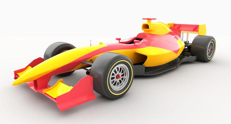 Generic F1 car royalty-free 3d model - Preview no. 2