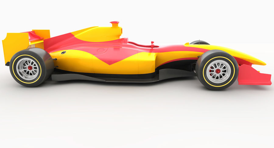 Generic F1 car royalty-free 3d model - Preview no. 7