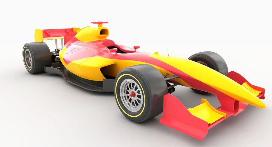 Generic F1 car royalty-free 3d model - Preview no. 8