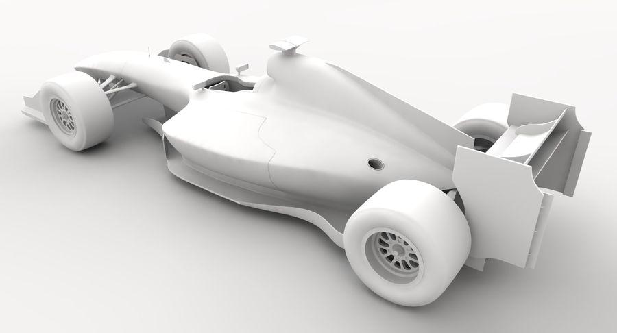 Generic F1 car royalty-free 3d model - Preview no. 19
