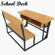 Szkolna ławka 3d model