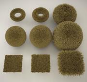 C4D rug, carpet hairy texture 3d model